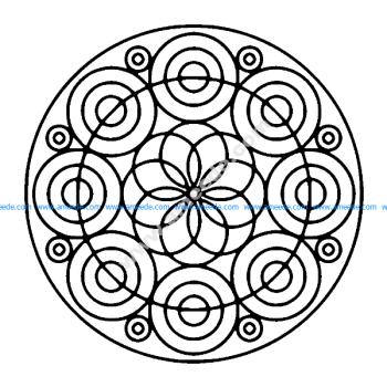 Des cercles formant une Fleur
