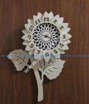 Flower Design Decorative Wall Clock
