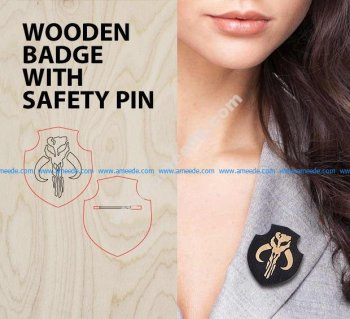 How-to: Wooden badge with safety pin