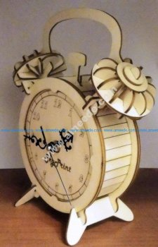 Laser Cut Desk Clock