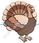 Laser Cut & Engraved Turkey Decoration