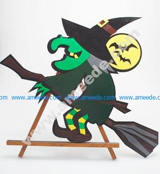 Laser Cutting a Halloween Witch from Pressboard