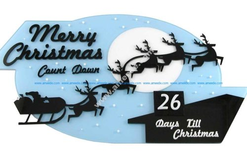 Laser Cutting an Acrylic Christmas Countdown Decoration