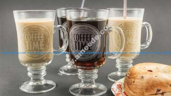 Laser Engraving Glass Coffee Mugs