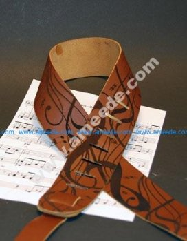 Leather Guitar Strap Engraving