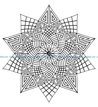 Mandala a colorier difficile 23