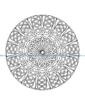 Mandala a colorier difficile 4