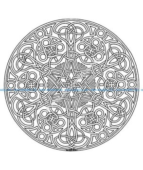 Mandala a colorier difficile 8