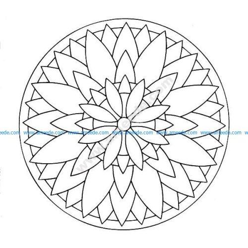 Mandala a colorier facile enfant 17
