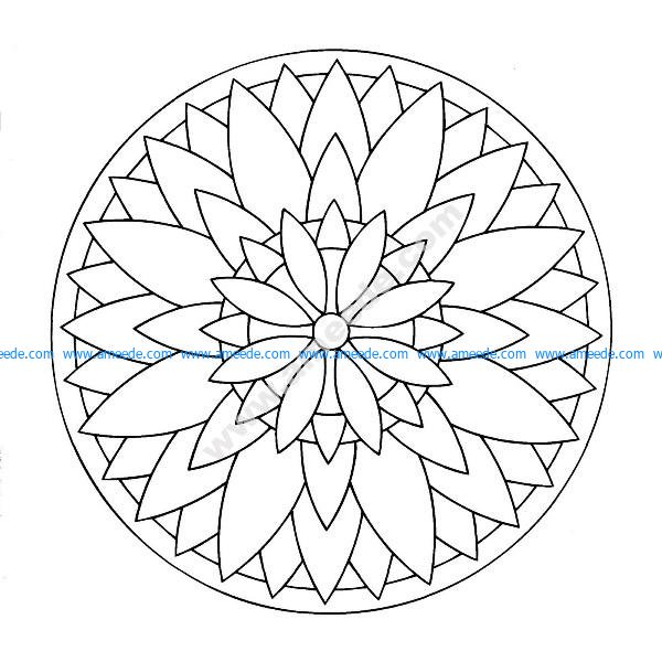 Mandala a colorier facile enfant 17