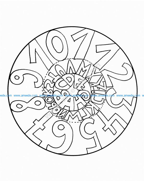 Mandala a colorier facile enfant 7