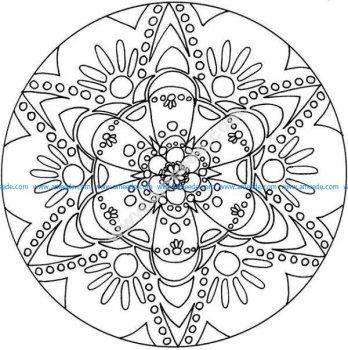 Mandala a colorier gratuit a imprimer 20