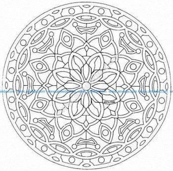 Mandala a colorier gratuit a imprimer 22