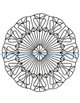 Mandala a colorier gratuit enchevetrement