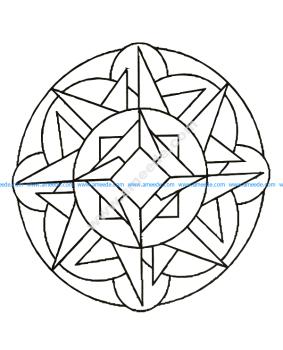 Mandala a colorier gratuit formes geometriques simples