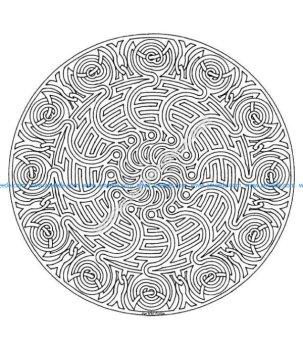 Mandala a colorier zen relax gratuit 10