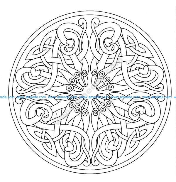 Mandala a colorier zen relax gratuit 12