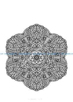 Mandala a colorier zen relax gratuit 21
