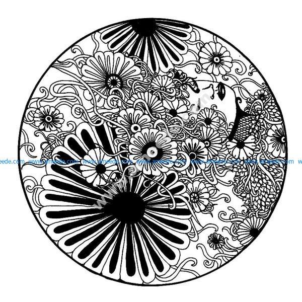Mandala a imprimer elanise mandala fleurs noir et blanc
