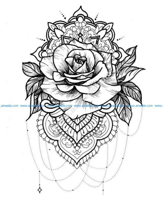 Mandala a telecharger et colorier rose