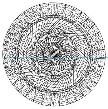 Mandala abstrait et simple
