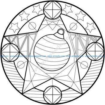 Mandala boule de noel