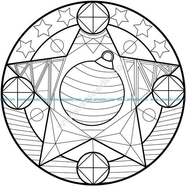 Mandala boule de noel – Download Free Vector for CNC and Laser