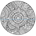 Mandala etoile lignes epaisses