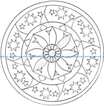 Mandala facile par domandala 12