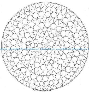 Mandala gratuit figures geometriques