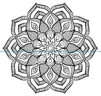 Mandala grosse fleur