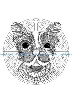 Mandala tete chien 2