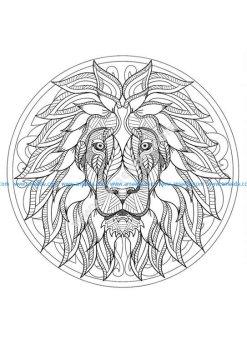Mandala tete lion 1