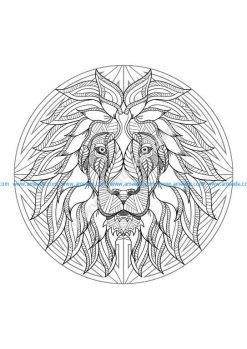 Mandala tete lion 4
