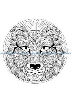 Mandala tete tigre 2