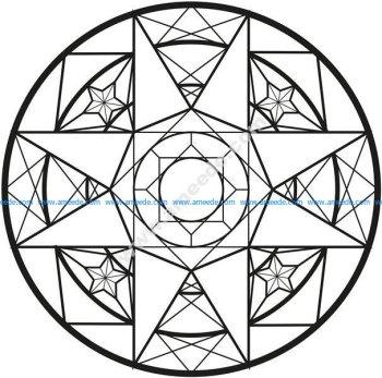 Mandala tres simple art deco