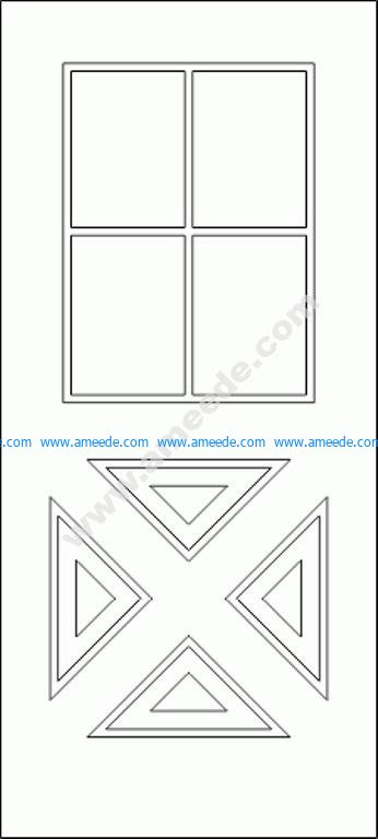 Modern Door CAD Block