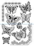 Nature papillons coloriage adulte difficile