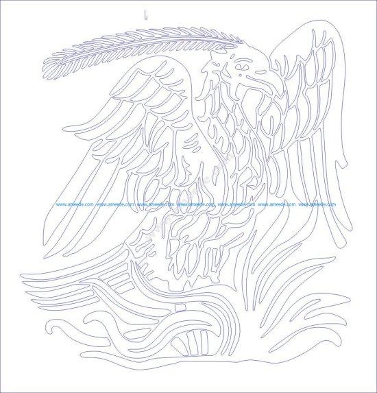 Phoenix bird pattern
