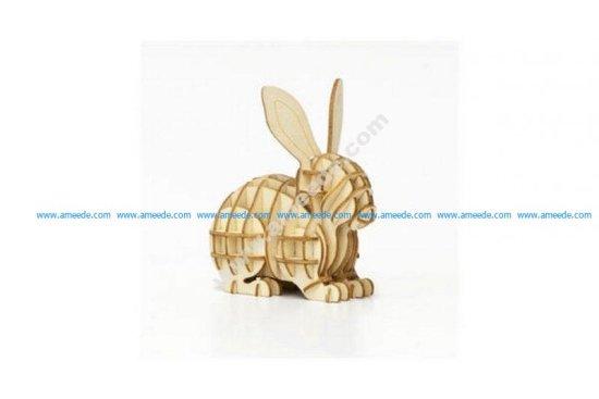 Rabbit 3D Puzzle