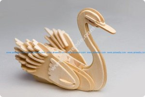 Swan 3D Puzzle 3mm