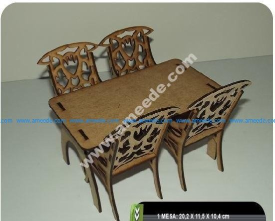 Table And Chairs CNC Plan