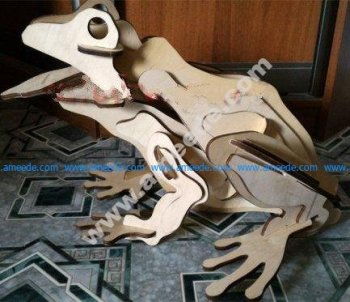 3d puzzle Frog