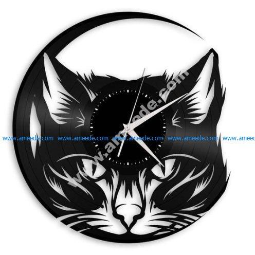 Black Cat Vinyl Record Cat Wall Decor