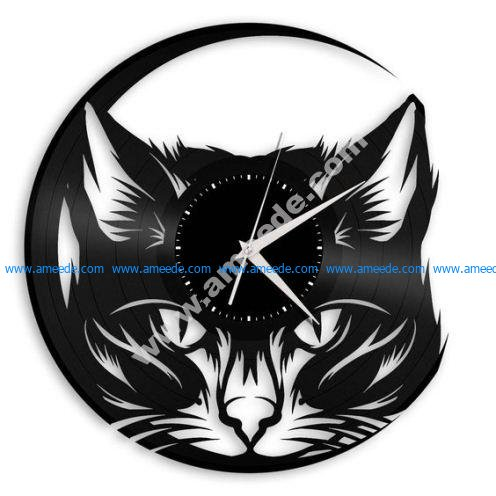 Black Cat Vinyl Record Cat Wall Decor