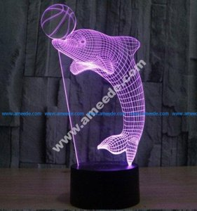 Dolphin 3d led lamp