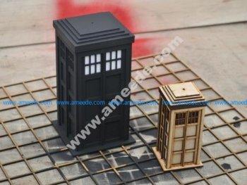 Laser Cut Police Box