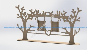 Laser Cut Tree Frame