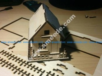 Lasercut Wooden House