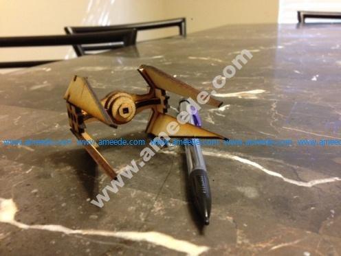 Lasercut, super simple mini Tie Interceptor